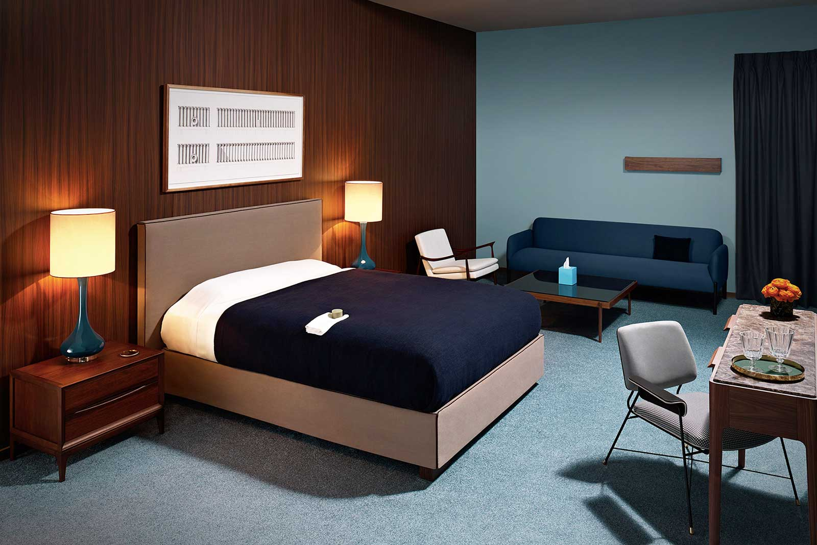 70s Motel Interior Editorial for Wallpaper* | Trendland