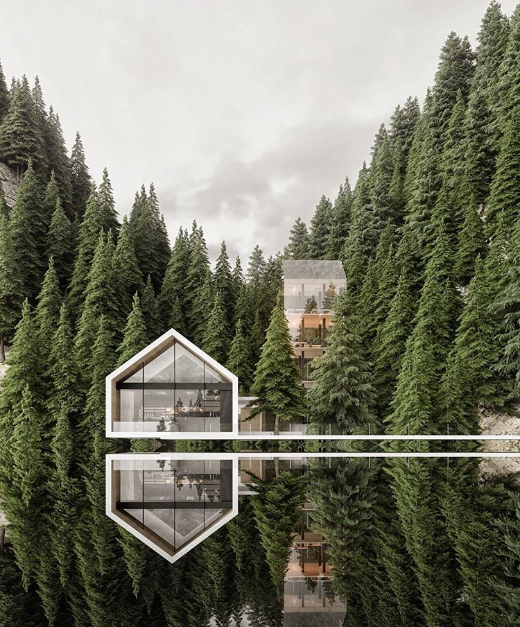 7 Amazing Houses Built Into Nature: Alexander Nerovnya Architecture By The Lake