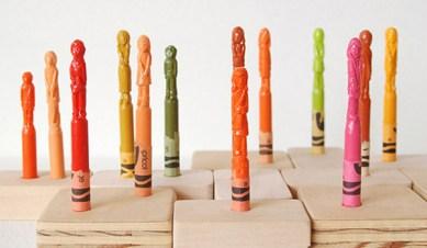 diem cheu crayola sculptures 1 Diem Cheu Crayola Sculptures
