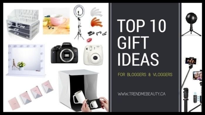 Top 10 Gift Ideas For Bloggers Vloggers Trendmebeauty