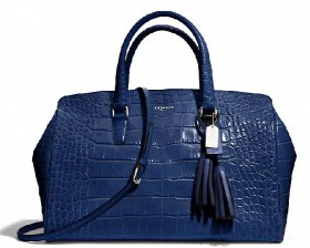 LEGACY LARGE LOWELL SATCHEL IN EMBOSSED LEATHER