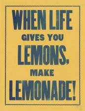 lemons make lemonade poster