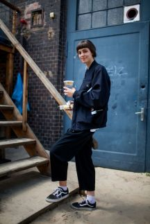 Street style at the Bright and Seek trade shows in Berlin.