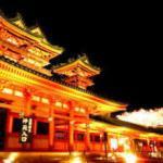 平安神宮 紅しだれコンサート ライトアップ