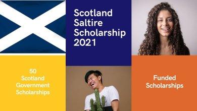 Scottish Government - Scotland's Saltire Scholarships UK 2021-2022