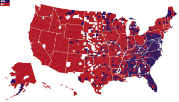 Dominant Religions In The US By County MAP - Map of religions in us