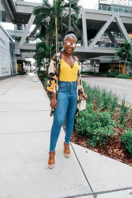 How to style body suit with Kimono