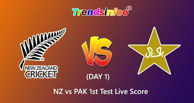 Pak Vs Nz 1st Test Day 1 Live Score New Zealand Vs Pakistan