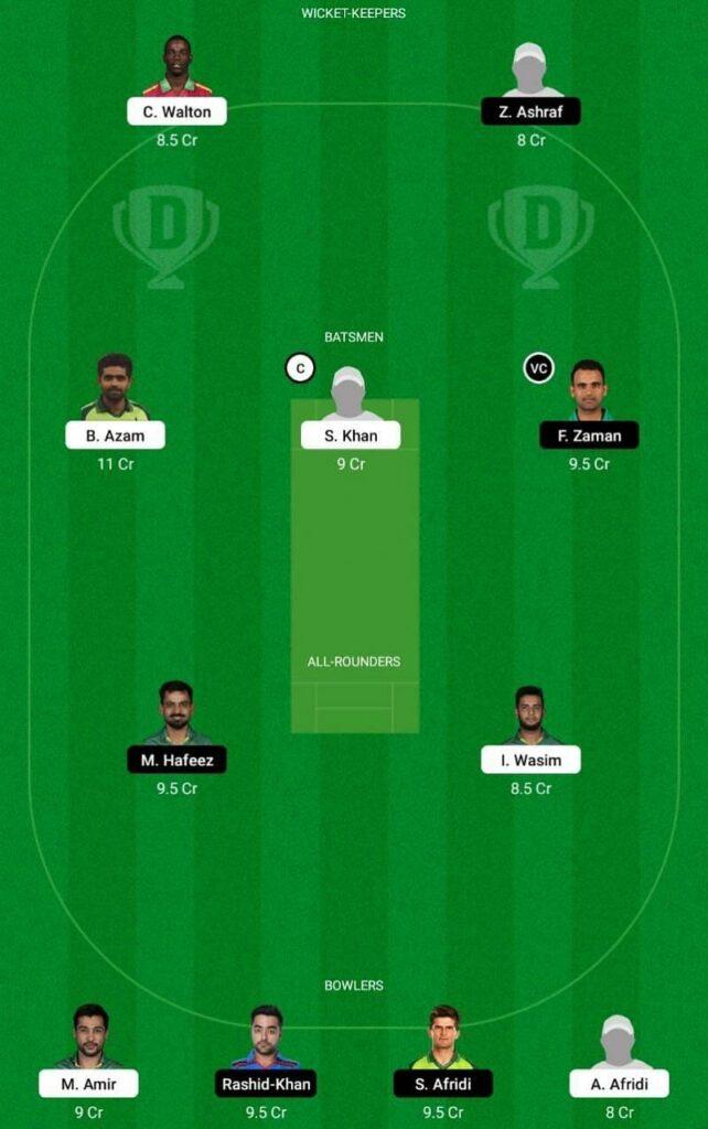 Karachi Kings vs Lahore Qalandars DREAM11 Playing11