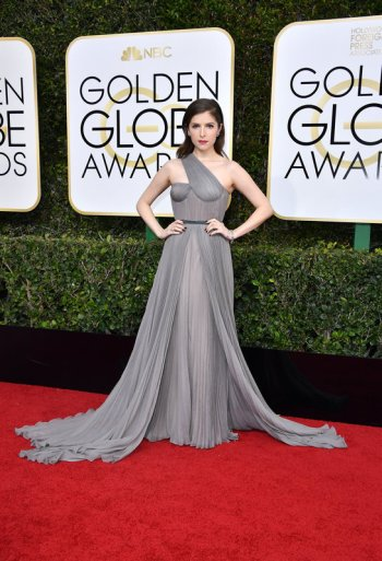 BEVERLY HILLS, CA - JANUARY 08: Actress Anna Kendrick attends the 74th Annual Golden Globe Awards at The Beverly Hilton Hotel on January 8, 2017 in Beverly Hills, California. (Photo by Steve Granitz/WireImage)