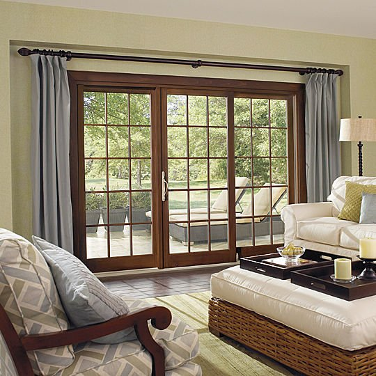 sliding patio doors for modern home designs sliding wood frame french patio doors with curtain sliding doors and window treatments