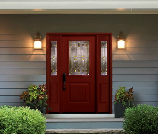 Pinterest painted entry doors. five ways to decorate with red diy ...