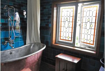 vintage-style bathroom