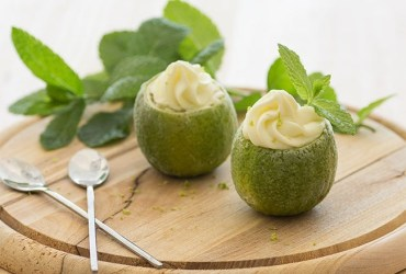 Frozen lime and cream cheese mousse