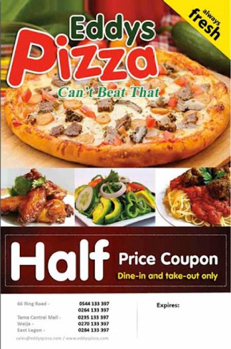 Eddys Pizza Price List