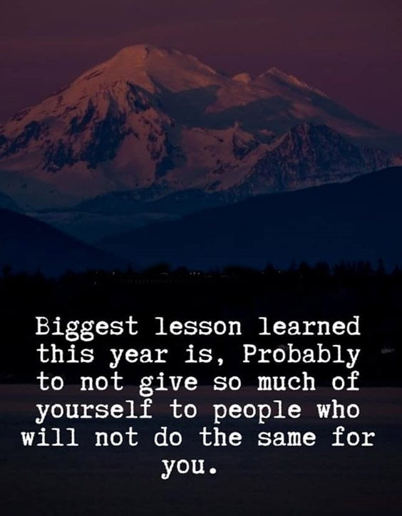 Biggest Lesson Learn This Year Brilliant Life Lesson Quotes