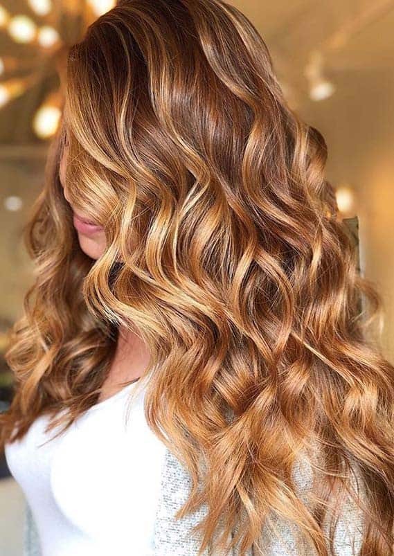Golden Balayage Hair Color Ideas for Women in 2020
