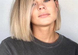 Good Looking Blunt Balayage Bob Haircuts for Ladies