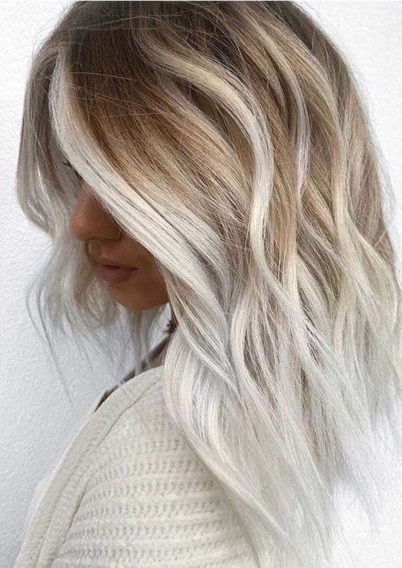 Beautiful platinum blonde hair color ideas for Women 2020