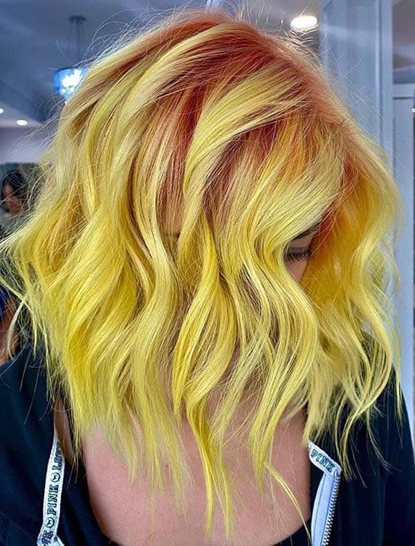 Fantastic Yellow Hair Color Trends for Women in 2020