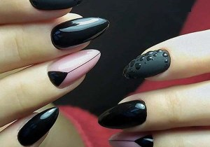 Fresh Black and Pink Nail Art Designs for Bold Women in 2020