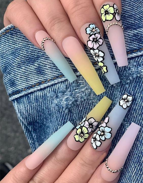 Modern Long Nails Style & Images for 2020