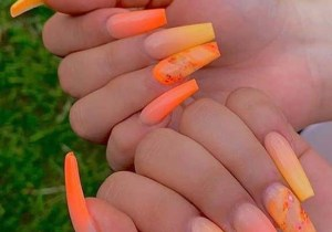Modern Orange Nails Designs for Ladies to Show Off Nowadays