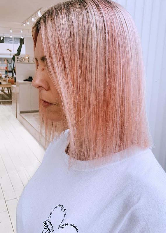 Rosy pink pastel hair color to follow in Year 2020