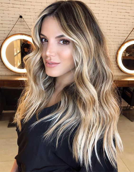 Unique & Fresh Hair Color Style for Long Hair