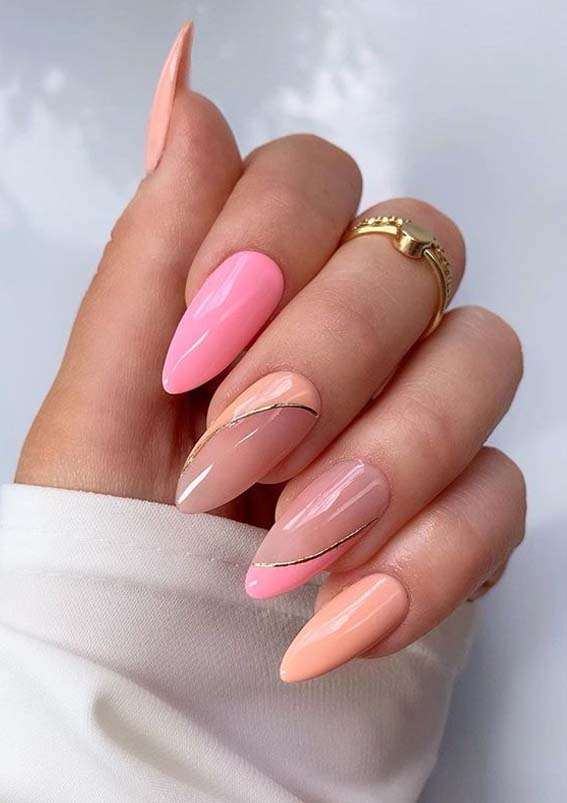 Amazing Pink and Peach Nails Designs for Ladies in 2020