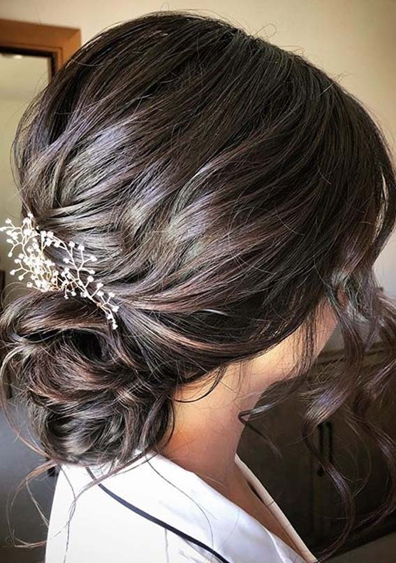 Low Chignon Wedding Hairstyles for Ladies in Year 2020