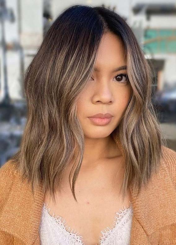 Fresh sunkissed brunette Hair Color Shades