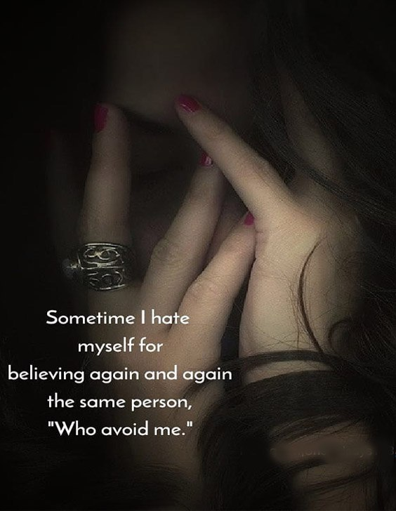 The Same Person who Avoide Me - Hate Quotes & Saying