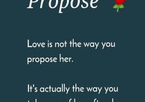 She Accept Your Proposal - Best Propose Quotes