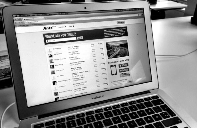 Samkørsel startuppet Ants udvider med helt ny hjemmeside