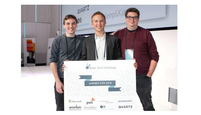 Vinder af Green Tech Challenge: Interesserede investorer venter allerede i mailboxen