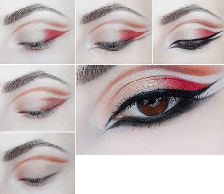 Easy Trick For Red Smoky Eyes