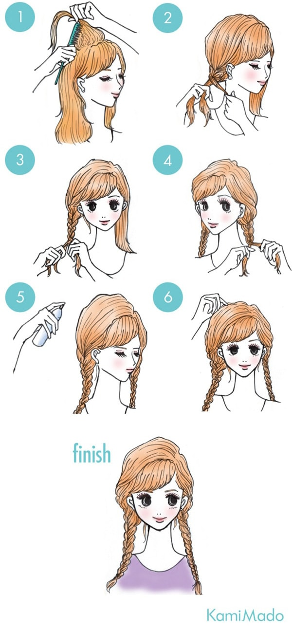 Two Simple Side Braids
