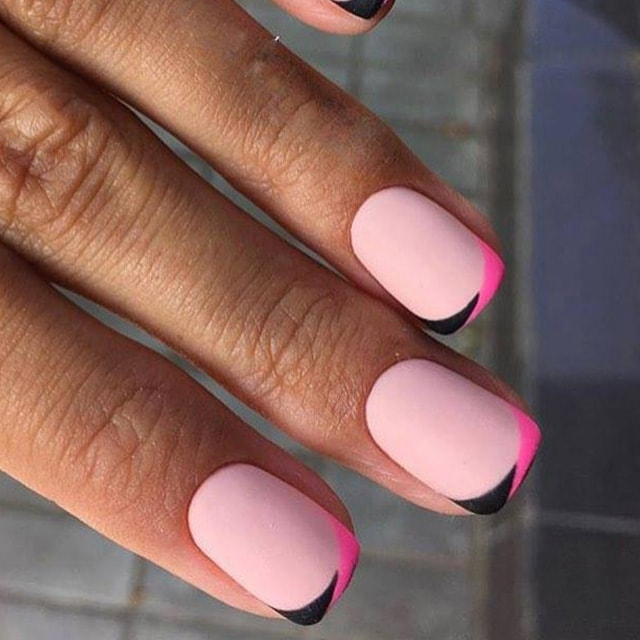 Pink and Black Tips