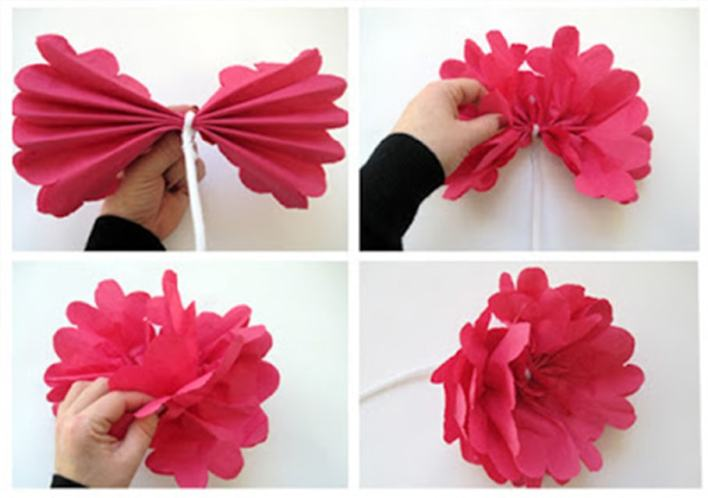 DIY Make Flowers With Paper  (procedure)