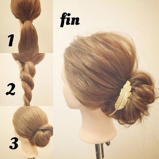 4-10 Updos tutorials on pinterest to Look Stunning