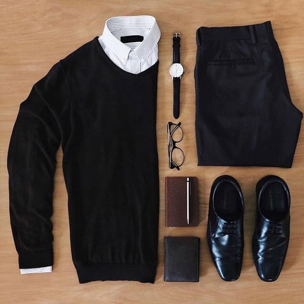 Top Black Outfits combination For Real Men 2