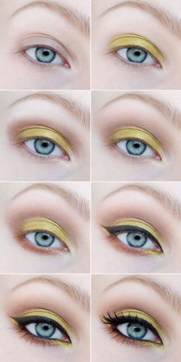 1-Makeup Step By Step For Blue Color Eyes!