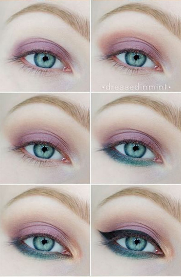 3-Makeup Step By Step For Blue Color Eyes!