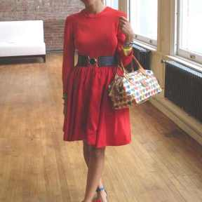 IFB Con Red dress
