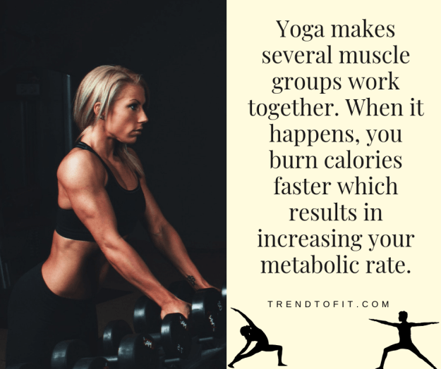 yoga to increase metabolic rate and weight loss efforts
