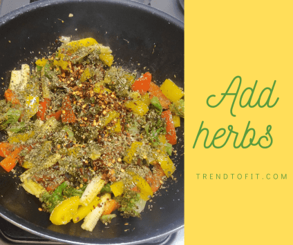 healthy vegetables with herbs