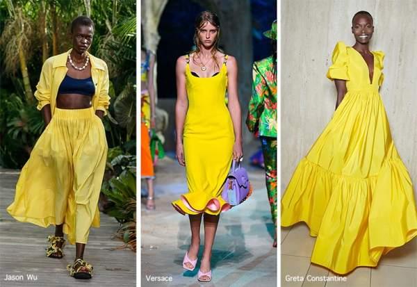 Насыщенный желтый цвет в коллекциях Jason Wu, Versace, Greta Constantine