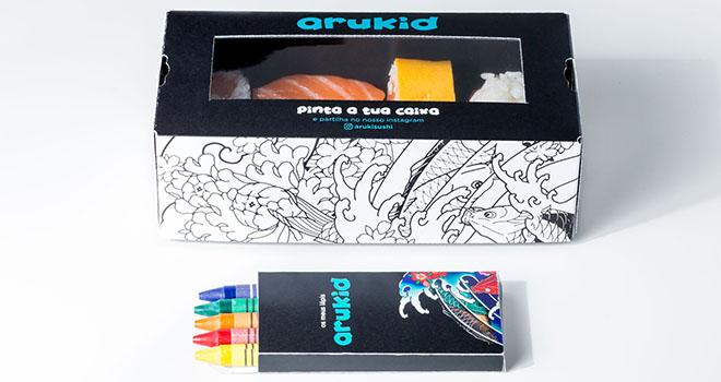 Aruki Sushi Arukid Colorir