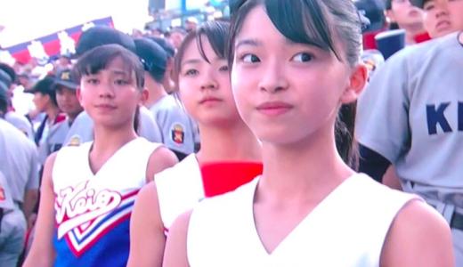 慶応女子のチアが可愛すぎ!チア部ではなくバトン部?アナウンサーが微妙な発言?